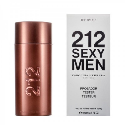 Купить ТЕСТЕР CAROLINA HERRERA 212 SEXY MEN, 100ML